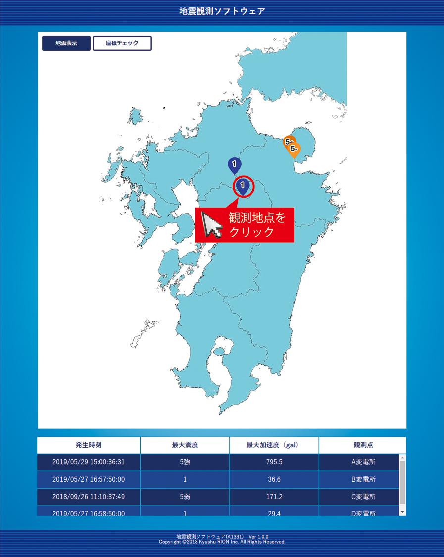 地震観測ソフトウェア K1331-5